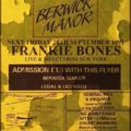 Frankie Bones LIVE @ The Berwick Manor 1991