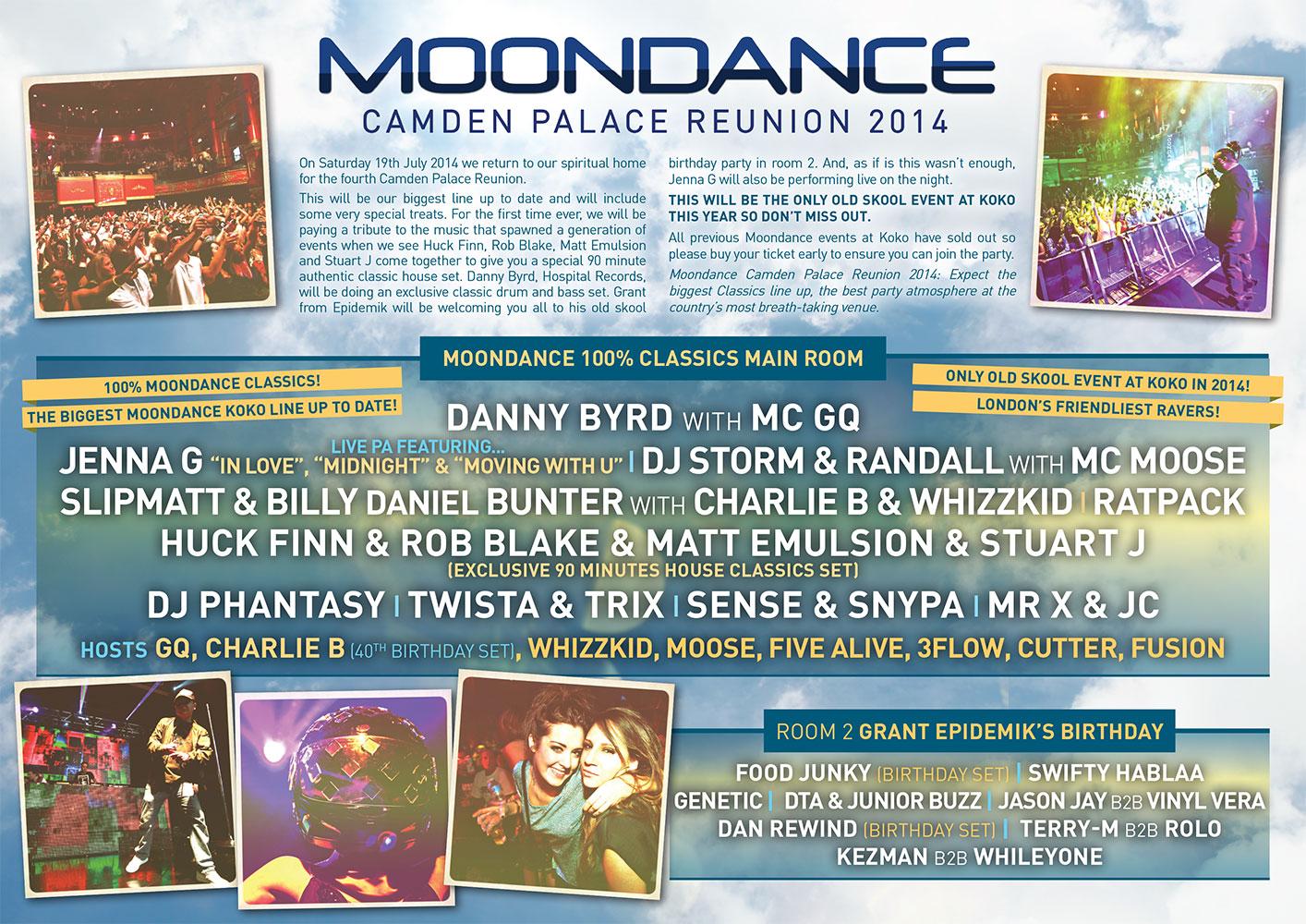 MOONDANCE CAMDEN PALACE REUNION 2014
